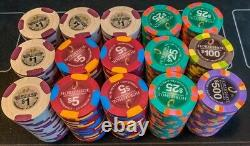 Paulson Poker Chip Set of 300 (Mint condition) Genuine Clay Casino Chips