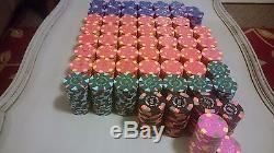 Paulson Private Cardroom Poker Chips 1201 Piece Set with Carrier Case and Racks