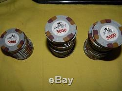 Paulson Top Hat & Cane Poker Chip Set 650 Count With Case. E997