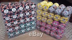 Paulson Top Hat & Cane poker chip set 1000 count