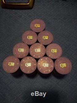 Paulson Tophat & Cane Clay Poker Chips Authentic set of 2,000 (New)