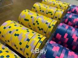 Paulson WTHC Cash set 600 Poker Chip Set World Top Hat & Cane