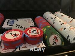 Paulson poker chip set GPI Shuffle Master $2.50 $5 $25 Top Hat & Cane Casino