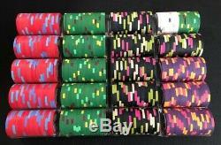 Paulson poker chip set GPI Shuffle Master/ 400 chip tournament set