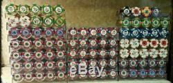 Paulson poker chips 1,841 Mega set
