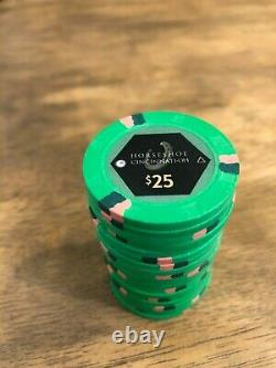 Paulson poker chips set 420 Horseshoe Cincinnati $1, $5, $25, $100 casino used