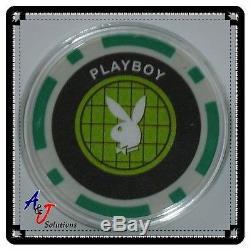 Playboy Set of Five Poker Chip Card Guard Protectors