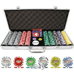 Poker 500pc 15g Clay Laser Las Vegas Chips with Aluminum Case Trademark New