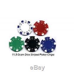Poker Cards Professional Table Set with Case Chips 650 PC Royal Suited 11.5 Gram