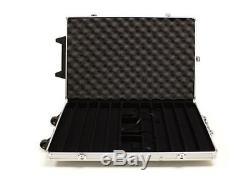 Poker Chip Set 1000 Chips Casino Monte Carlo Aluminum Case 14 gr Dice Clay Bulk
