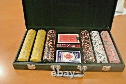 Poker Chip Set 300 pc. 13.5g Laser effects Leather case NEW
