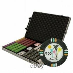 Poker Chip Set Desert Heat 500 Count 13.5g in Aluminum Case