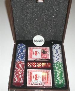 Poker Chips Set 100 Piece Aluminum Case 11.5 Gram