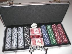 Poker Chips Set 400 Piece Aluminum Case 11.5 Gram