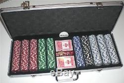 Poker Chips Set 500 Piece Aluminum Case 11.5 Gram