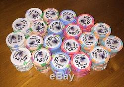 Poker Chips Set Casino Quality Made By Paulson 200 Count EUC