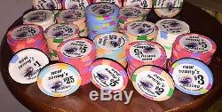 Poker Chips Set Casino Quality Made By Paulson 325 Count VGC