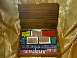 Poker Chips Set, Mid Century Modern, Ultra Luxury, Unique, Bakelite