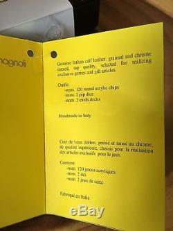 Poker Chips Set-Renzo Romagnoli-Poker Set With Genuine Italian Calf Leather Case