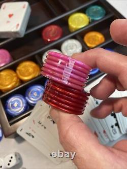 Poker Set Renzo Romagnoli Luxury Poker Set Wooden Box Rare New In Box WOW