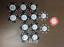Poker gift set with real casino paulson tophat and cane chips