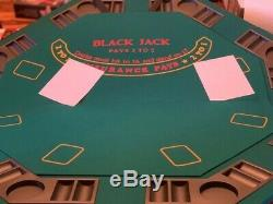 Popular Dice Texas Holdem Poker Chip Set 500ct & Folding Table Top Combination