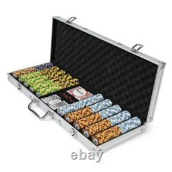 Pre-Pack 500 Ct Monte Carlo Chip Set Aluminum Case