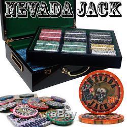 PrePackaged 500 Ct Nevada Jack 10g Hi Gloss Chip Set Poker Chips Set