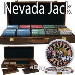 PrePackaged 500 Ct Nevada Jack 10g Walnut Case Chip Set Poker chips