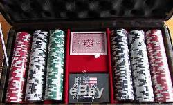 Psycho Bunny Poker Chip Set 300 Chips 2 Decks of Cards Case Included