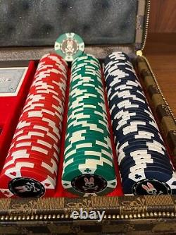 Psycho Bunny Robert Godley Poker Set Brown Leather Case