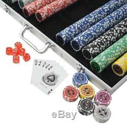 Quality Poker Set with 1000 Laser Chips Aluminium