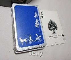 Quality vintage bakelite airplane chip snake box poker gambling box card set