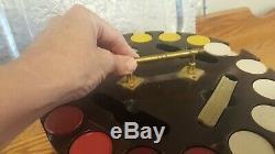 RARE Antique Royal Doulton Flambe Fox Poker Chip Set Fox Hunting Gift