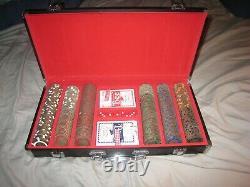 RARE BRASS SET 2005 World Series of Poker Set WithBinyons Horseshoe $1-$500 Chips