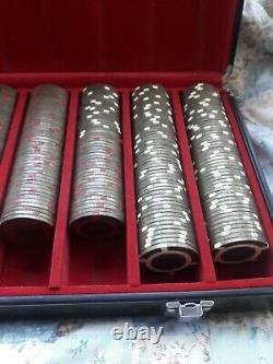 RARE BRASS SET OF 2005 World Series of Poker Binyon's Horseshoe $1-$500 Chips