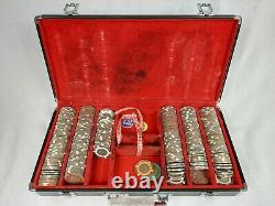 RARE BRASS SET OF 2005 World Series of Poker Chip Set $1, $5 AND 1 $500