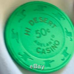 RARE SET 450 Paulson TH&C Poker Chips 4 colors from Casino shut in'97