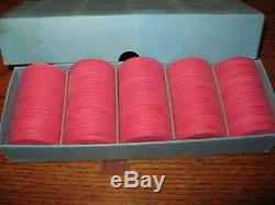 RARE Vintage MINT SET of 100 PAULSON $5 Colorado River Academy of Dealing chips