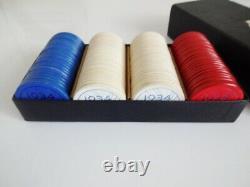 Rare 1934 Chicago Worlds Fair Poker Chip Set of 100 withOriginal Box USA