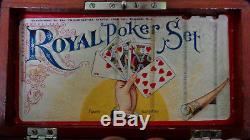 Rare Antique Royal Poker Set Made By Philadelphia Watch Co. C. 1868-1886