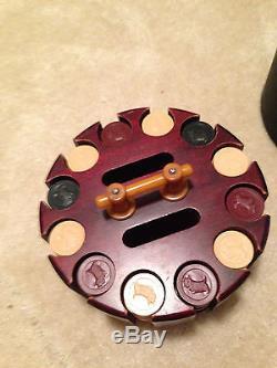 Rare Antique Scotty Dog Poker Chip Set