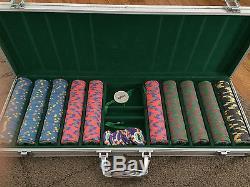 Rare Casino De Isthmus 007 James Bond movie props poker chip set of 510 + case