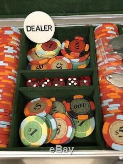 Rare Las Vegas Nevada Poker Chip Set 10 Gram Mark $ Hologram Casino Imprint