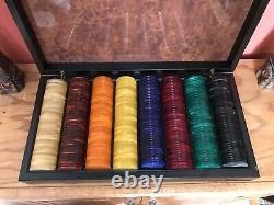 Rare Vintage European Bakelite Poker Set