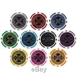Real Clay Poker Chips Set 1000 Display Case Holder Cheap Best Brybelly Ultimate