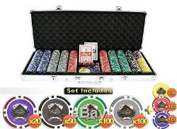 RealRoyale Clay-Simulate Freedom 500 Poker Chip Set, No Face Value