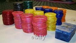 Renzo Romagnoli Poker Chip Collection. Large Number of Various Denominations