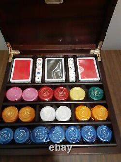 Renzo Romagnoli Poker Chip Set Vintage Made In Italy