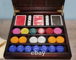 Renzo Romagnoli Poker Chip Set Vintage Made In Italy New In original Box Rare